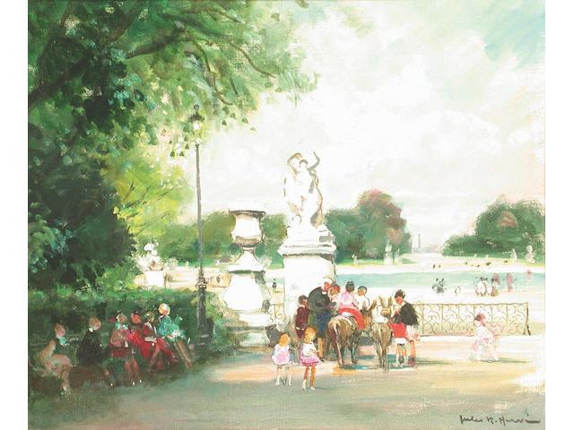Jules Herve (French, 1887-1981) Les Petits Amis 45 x 53 cm.