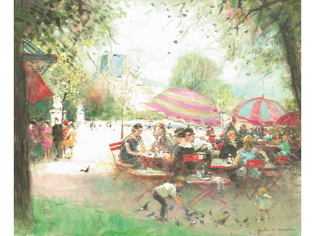 Jules Herve (French, 1887-1981) Cafe Tuileries 78 x 59 cm.