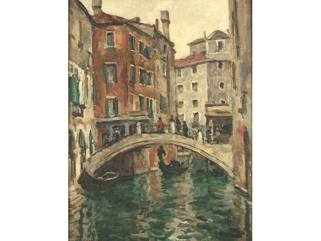 Piotr Petrovich Konchalovsky (Russian, 1876-1956) Santa Apostoli, Venice 79 x 61 cm.