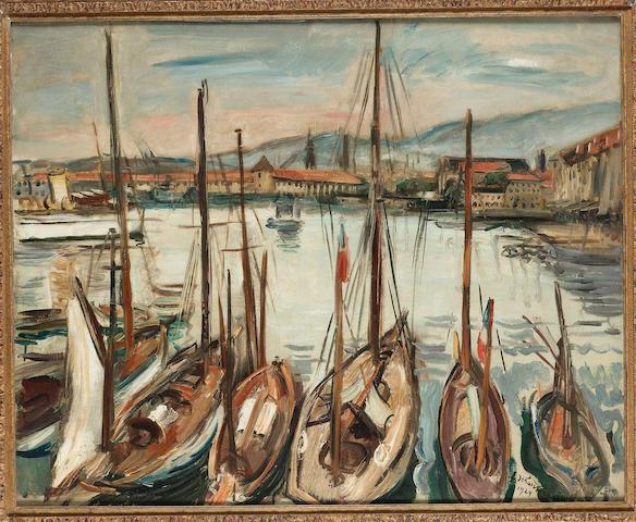 Emile Othon Friesz (French, 1879-1949) Les Yachts, Toulon