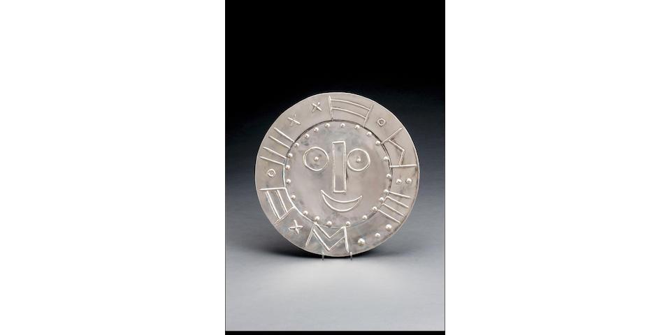 Pablo Picasso (Spanish, 1881-1973) Tete en forme d'horloge