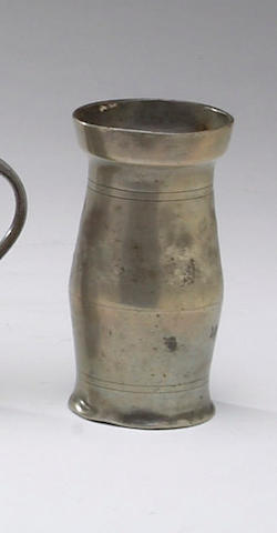 A mixed group of pewter,</r>