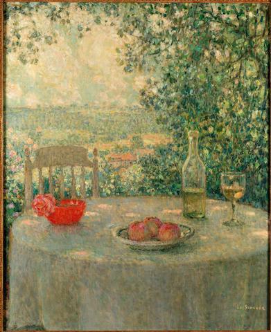 Henri Eugène Augustin Le Sidaner (French, 1862-1939) La table d'après-midi, Gerberoy