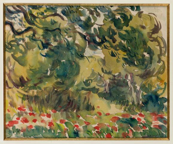 Louis Valtat (French, 1869-1952) Sous-bois fleuri