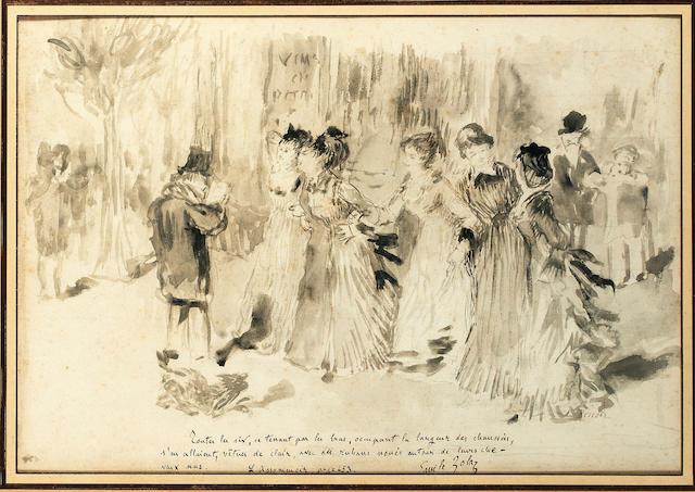 """Pierre-Auguste Renoir (French, 1841-1919) """"Nana, Pauline et les autres"""", from Emile Zola's """"L'assomoir"""", Chapter 11"""