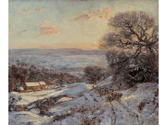 Herbert Royle - Snow scene, Nessfield