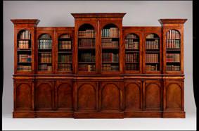 LON: Victorian mahogany bookcase,