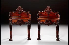LON:Pair of Irish mahogany side tables