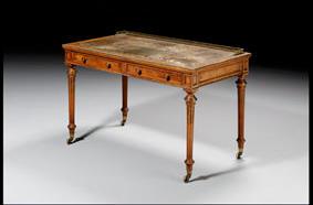 Louis XI style walnut writing desk
