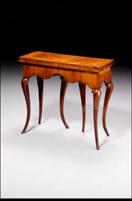 Queen Anne card table (with original rec