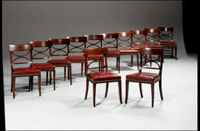 A set of twelve 19th Century mahogany di