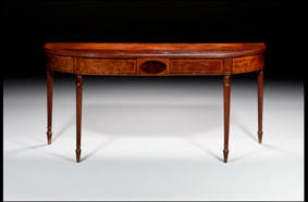 A late George III mahogany serving table