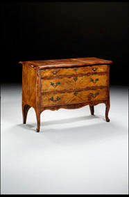 Italian C18th Olive Wood Commode