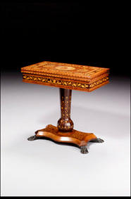Fine Kilaney Marquetry Games Table