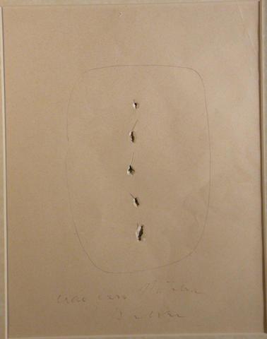 Lucio Fontana (Italian, 1899-1968) Concetto Spaziale