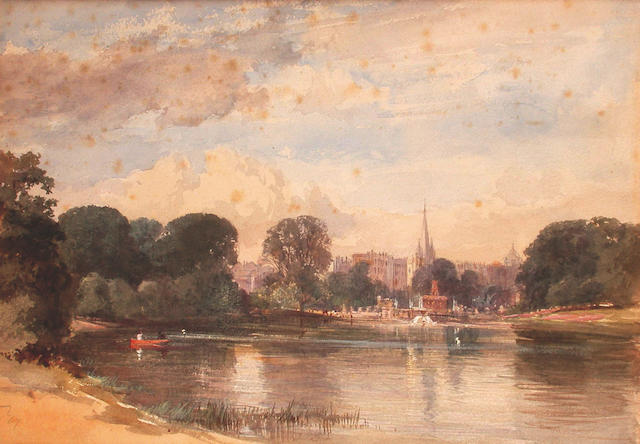 Paul Jacob Naftel (British, 1817-1891) View of a City 24.5 x 35 cm, (3), all unframed.