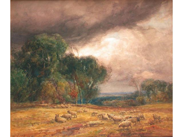 W.Ramsey (British, circa 1900) Stormy landscape 58 x 68.5 cm.