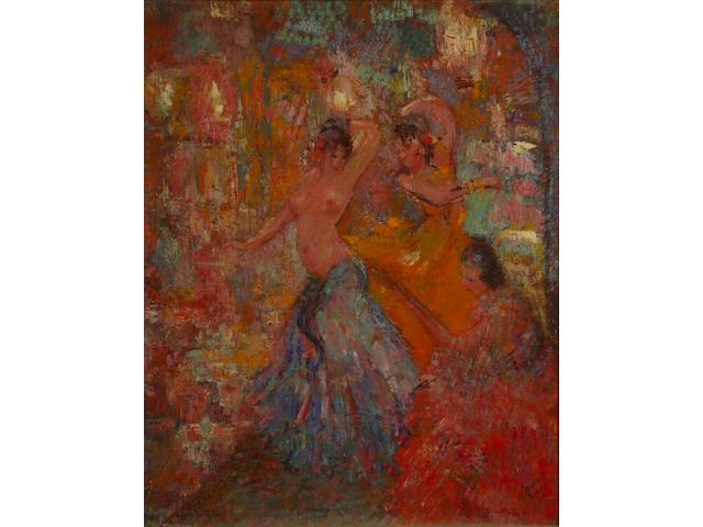 Oscar Barblan (Swiss, 1909-1987) Barcelona 67 x 53 cm.