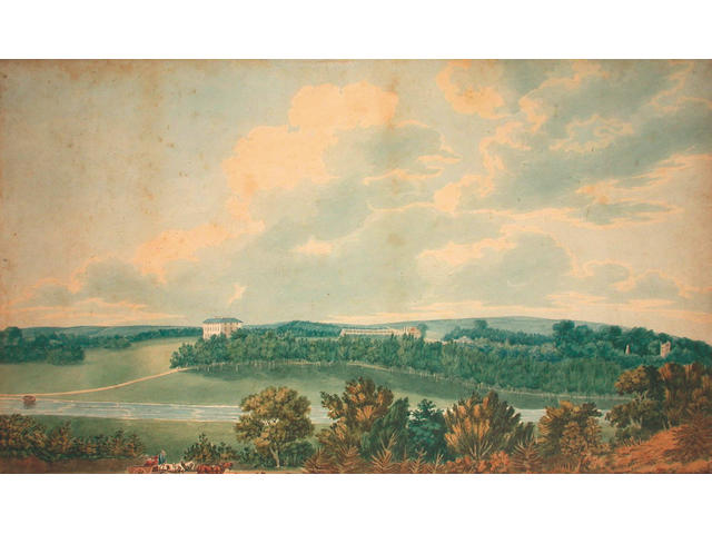 English School, 19th Century, Country House and grounds 36 x 62.5 cm, (2).