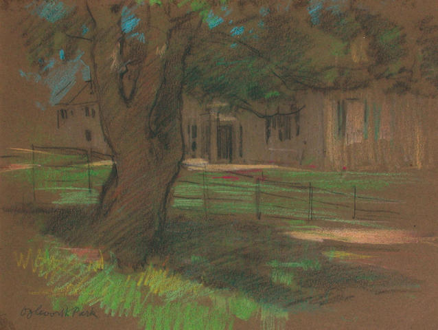 George Denholm Armour (British, 1864-1949) View of a Country House 20.5 x 26.5 cm, (3).