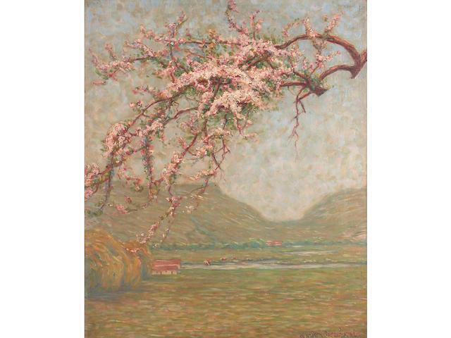Wynford Dewhurst (British, 1864-1941) The May Tree 74 x 61 cm.