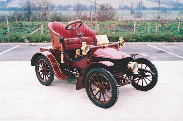 1904 Wolseley C6 6hp Two-Seater  Chassis no. V45 Engine no. 13/2254