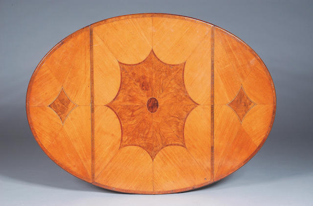 A good George III satinwood crossbanded and walnut inlaid Pembroke Table,
