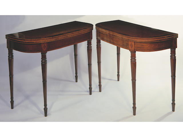 A pair of early 19th Century card tables
