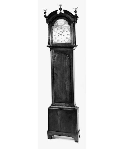 An 18th century oak longcase clock, 218cm. high