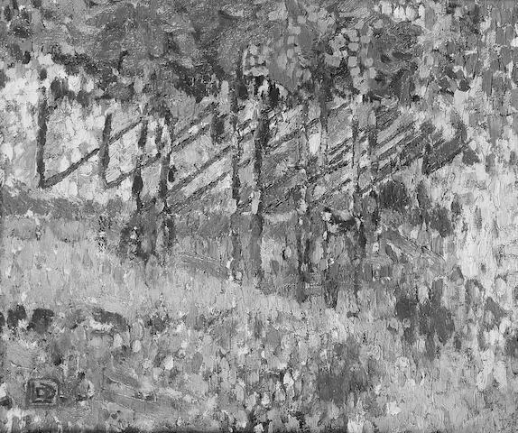 Leon de Smet (Belgian 1881-1966) Sunlight and Trees 38 x 46.5cm. (15 x 18 1/4in.)