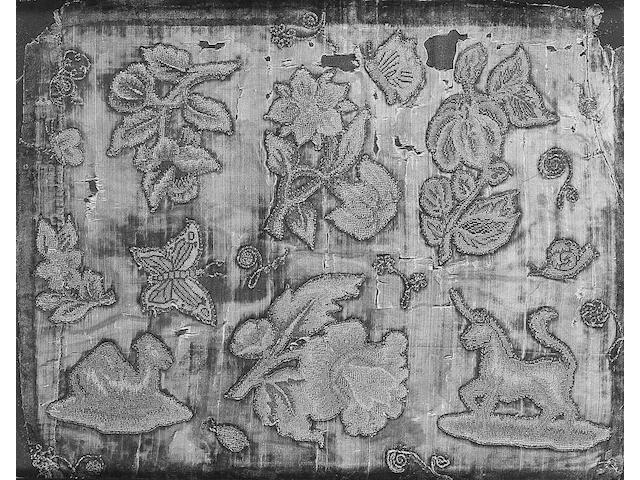 A collection of 17th century embroidered spot motifs