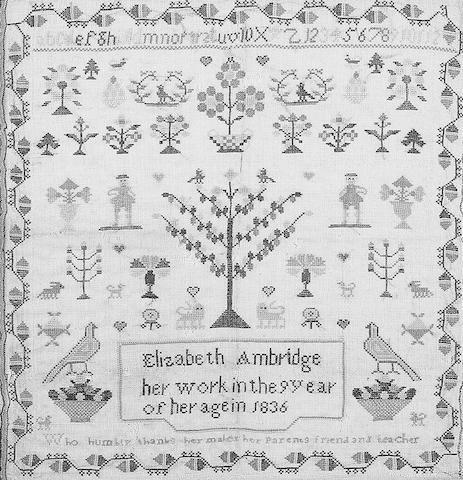 A William IV sampler,