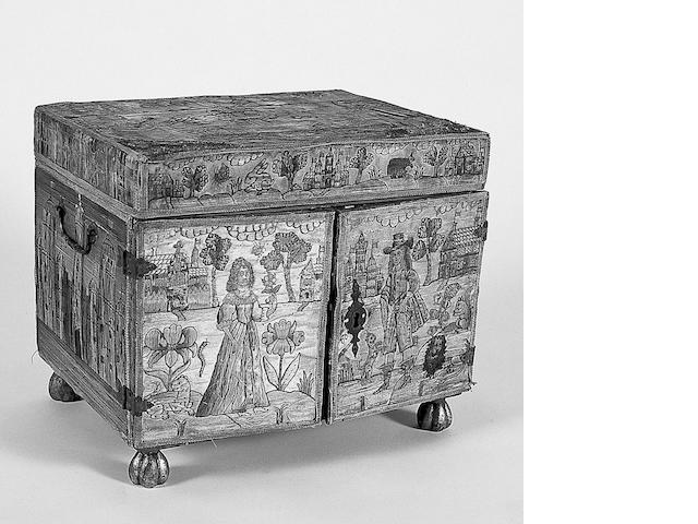 A 17th Century needlework casket,