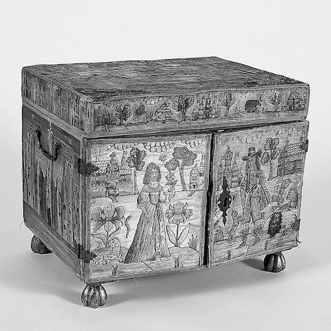 A 17th Century needlework casket,
