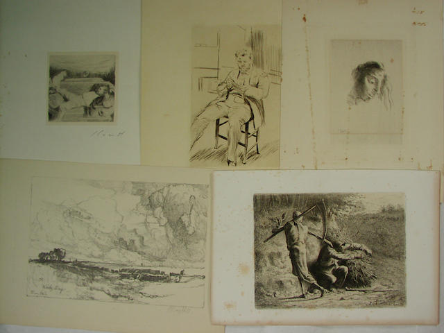 A large collection of Continental Prints