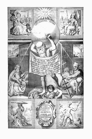 MERCATOR (GERARD) and JODOCUS HONDIUS Historia mundi: or Mercator's Atlas...englished by W[ye] S[altonstall]
