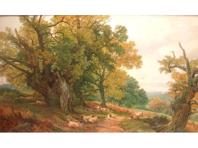 Frederick William Hulme (British, 1816-1884) A Surrey landscape, 76 x 127cm