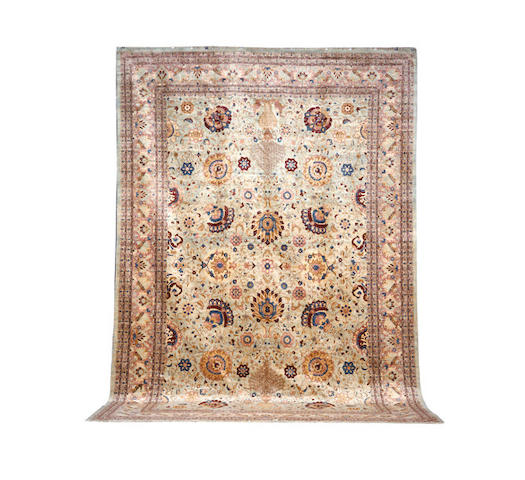 A large Agra carpet, North India, 552cm x 371cm