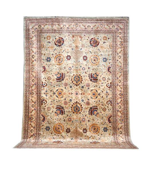 A large Agra carpet, North India, 552cm x 371cm