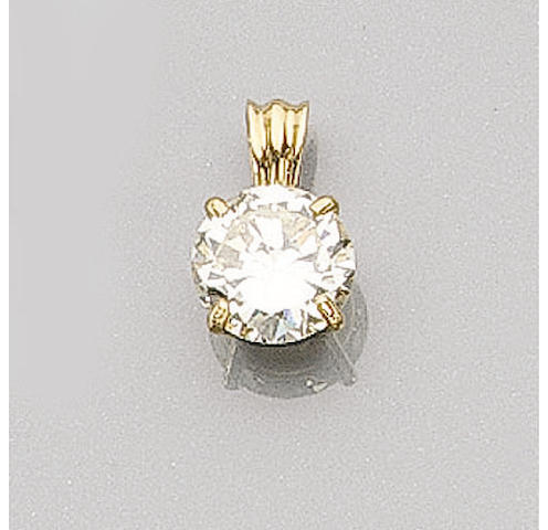 A Brilliant-Cut Diamond Pendant