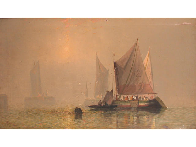 Charles Webster (British, 19th Century) Caught in the mist 61.2 x 106.3cm