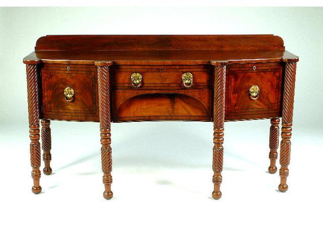 A William IV mahogany sideboard, 184cm wide, 68cm deep, 104cm high.