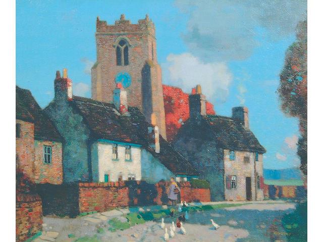 "Stanley Royle (1888-1961) ""Feeding the Geese"" 51 x 61 cm"