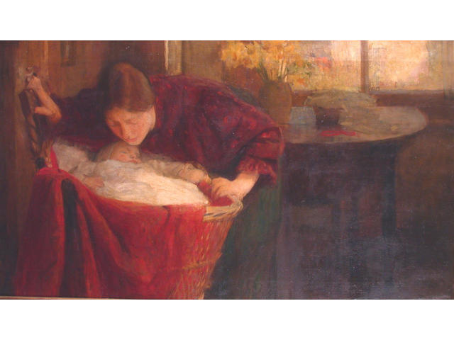 John William Whiteley (British, Exh.1882-1916) A Lullaby