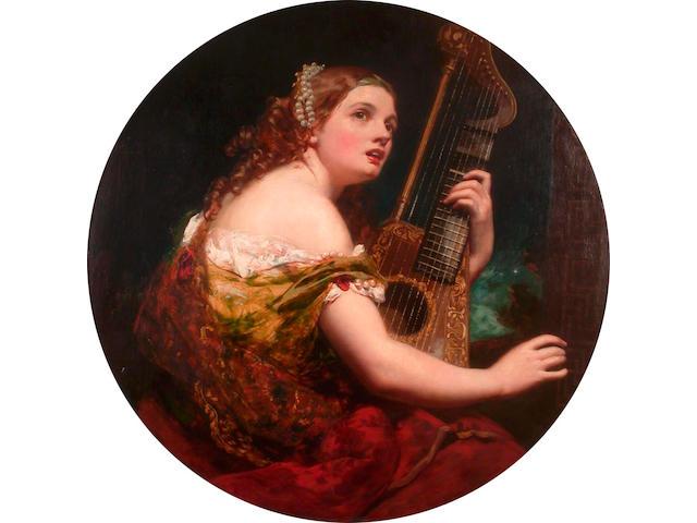 James Sant (British, 1820-1916) Music 91.4 x 91.4cm