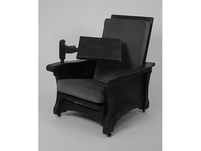 An oak 'Mouseman' armchair,