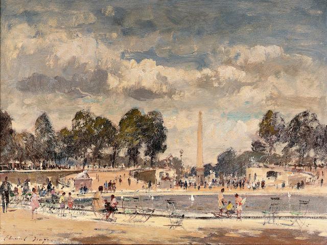 Edward Seago R.W.S. (1910-1974) The round pond - Tuileries Gardens 46 x 61 cm. (18 1/8 x 24 in.)