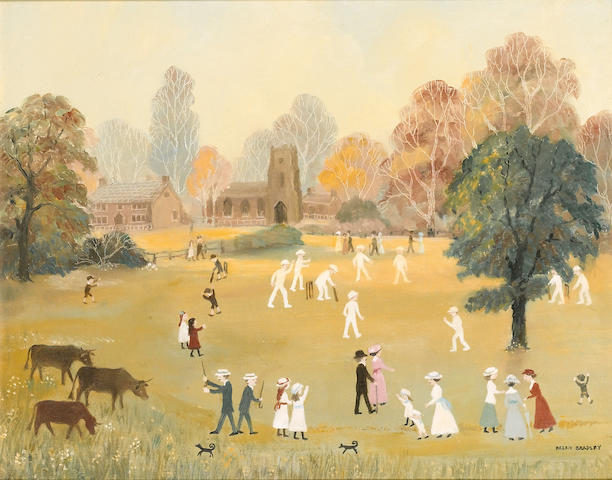 Helen Bradley (1903-1979) The Cricket Match 40.5 x 51 cm. (20 x 16 in.)