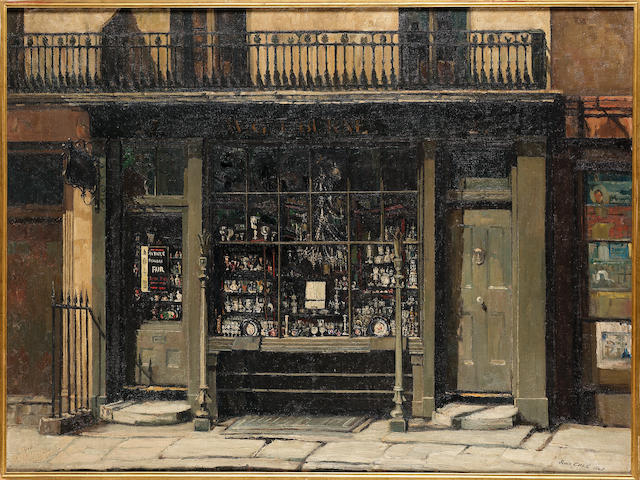 John Vicat Cole (1903-1975) The Antique Shop 75.5 x 101.5 cm. (29 3/4 x 40 in.)