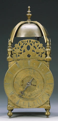 An 18th Century Brass Lantern Clock Jno Bushman, London 36cm